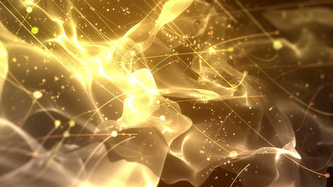 SHA Particle Flow BG Image Yellow 動画素材, ムービー映像素材
