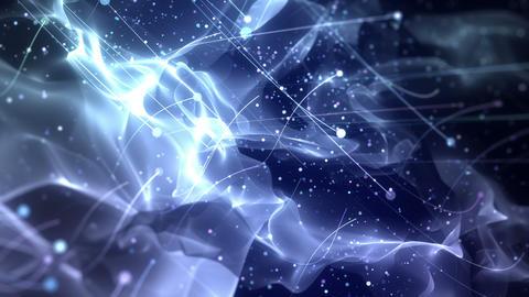 SHA Particle Flow BG Image Blue 動画素材, ムービー映像素材