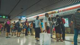 Short Film - walking in Hong Kong MTR, Admiralty subway station Footage
