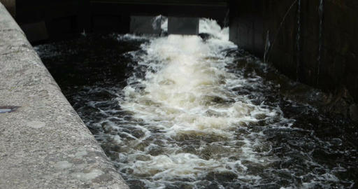 Lock of the Goeta Canal in Sweden Footage