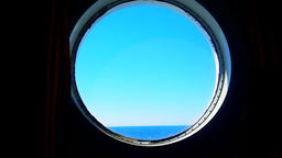 Porthole of a Ocean Liner Footage