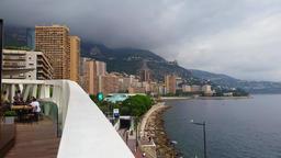 Beautiful Monte-Carlo Cityscape Principality Of Monaco Footage