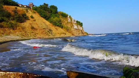 Sveti Vlas Beach in Bulgaria Footage