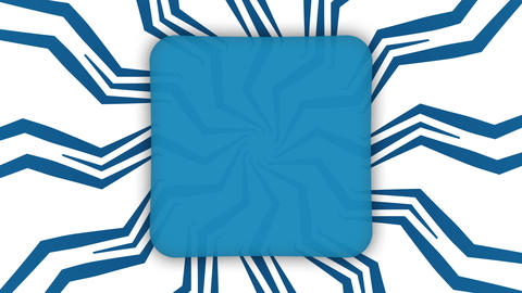 Blue frame rectangle banner on wavy shapes animation Animation