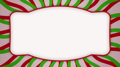 White frame ellipse banner on wavy shapes animation Animation