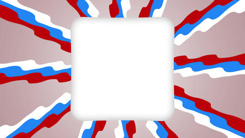 White frame rectangle banner on wavy shapes animation Animation