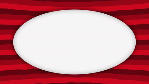 White frame ellipse banner on wavy red shapes animation Videos animados
