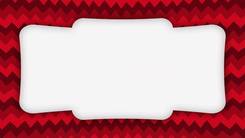 White frame banner on red wavy shapes animation Videos animados