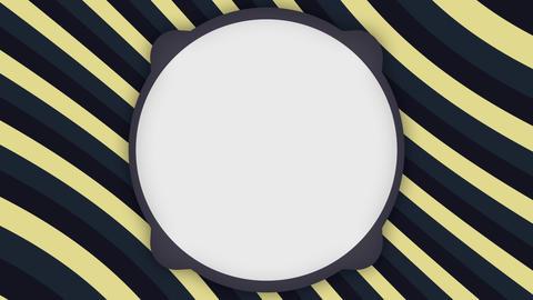 White frame banner on stripes animation Animation