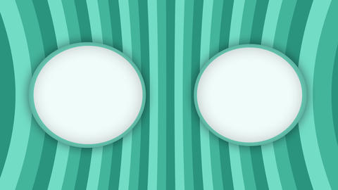 Double white frames banners on green stripes animation Videos animados