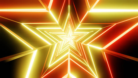 Yellow and orange star abstract Animation