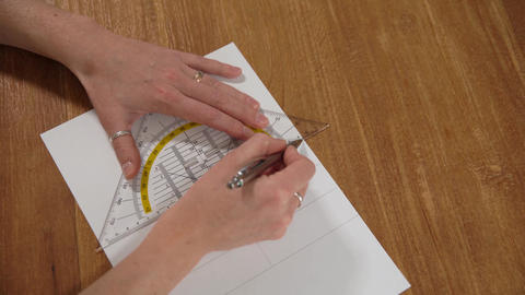 drawn on white paper pencil images and drawings with a ruler Live Action