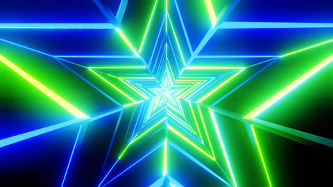 Green and blue star abstract Animation