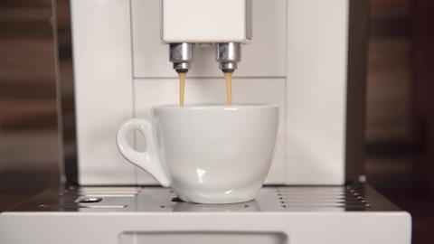 preparing fragrant espresso on your home automatic coffee machine Live Action