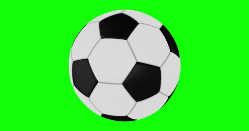 Soccer Ball Rotates Seamlessly on a Green Screen Live Action