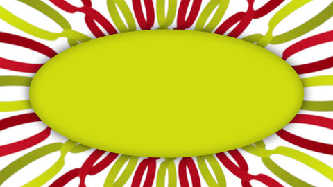 Yellow frame rectangle banner on wavy shapes animation Animation