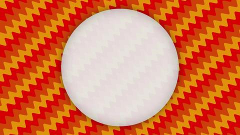 White frame ellipse banner on wavy orange shapes animation Animation
