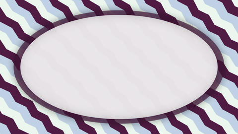 White frame ellipse banner on purple wavy shapes animation Videos animados