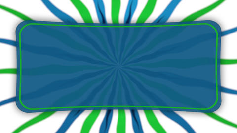 Frame banner on wavy shapes blue green animation Stock Video Footage