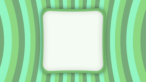 White square frame banner on green stripes animation Animation