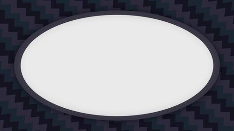 White frame ellipse banner on dark wavy shapes animation Animation