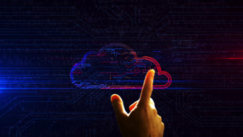 Cyber cloud symbol futuristic entry into cyberspace animation Animation