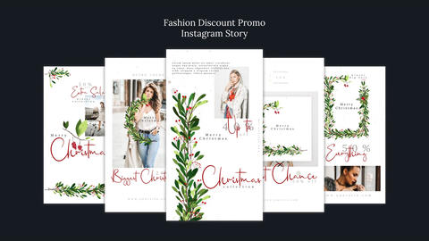 Fashion Discount Promo Instagram Story MOGRT Plantillas de Motion Graphics