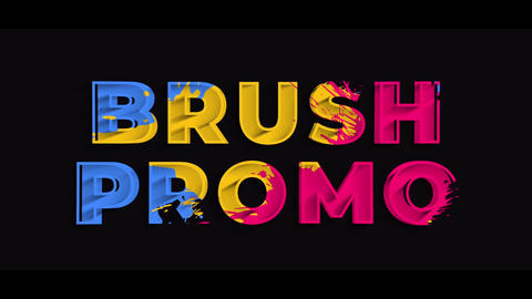 Colorful Brush Promo After Effects Template