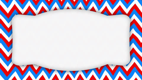 White frame ellipse banner on wavy shapes animation Animation