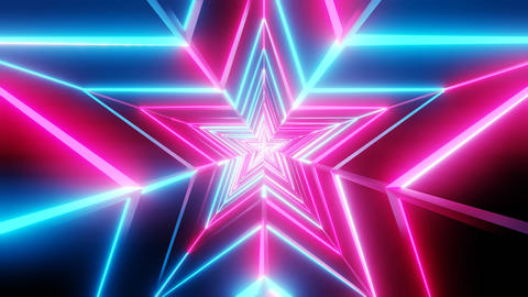 Pink and blue star abstract Animation