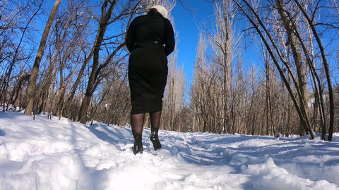 girl Walking in winter ライブ動画