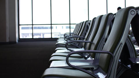 Empty waiting room at the airport Live Action