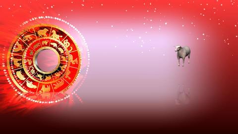 330 3d animated horoscope template with zodiac GOAT symbol Animation