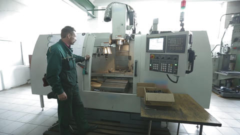 Milling Cutting Metalworking Process Live Action