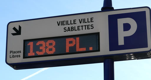 Traffic Sign Board Showing Number Of Parking Spaces Available GIF