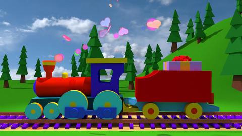 Toon Train GIF