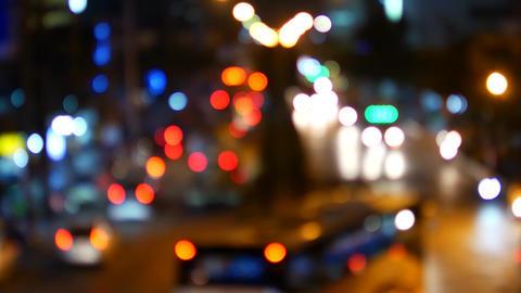 Night city lights in defocus Live Action