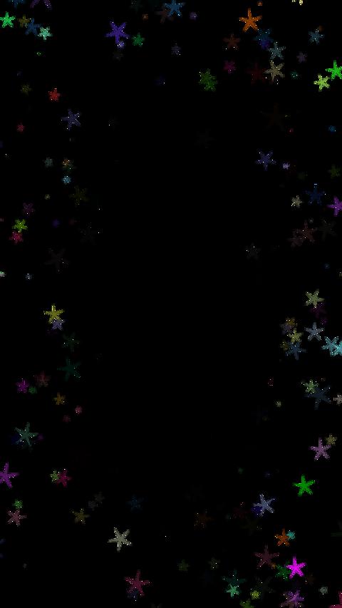 Around star particul(縦型 アルファ付き) CG動画