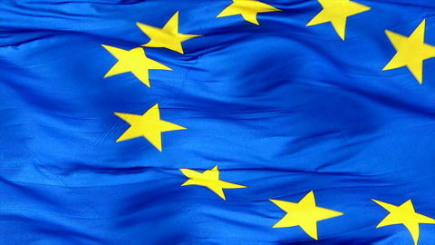 Flag Of The European Union Closeup Footage