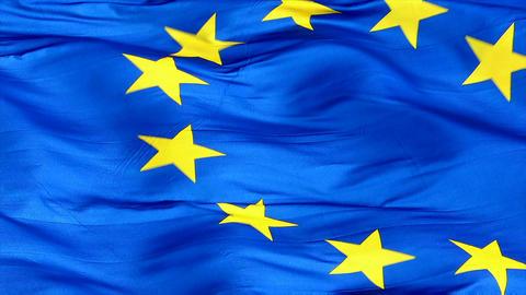 Flag Of The European Union Closeup Footage