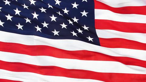 Realistic Closeup USA Flag 4K Footage
