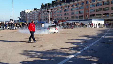 Sebastien Ogier drifting the Volkswagen Polo R in Monaco - Rally Monte Carlo 201 Footage