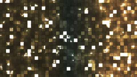 Broadcast Twinkling Firey Light Squares, Brown, Abstract, Loopable, 4K Animation