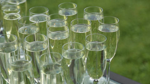 Glasses with champagne 画像
