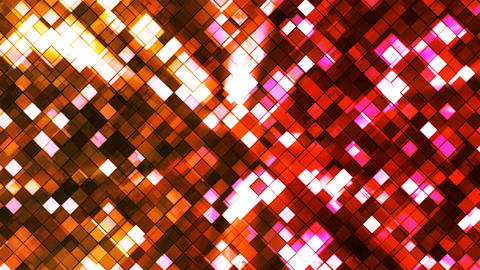 Broadcast Twinkling Squared Diamonds, Multi Color, Abstract, Loopable, 4K Animation