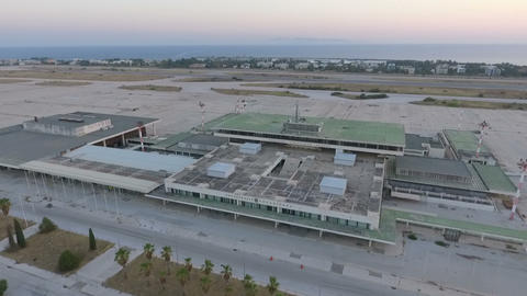 aerial view of an old abandoned airport Footage