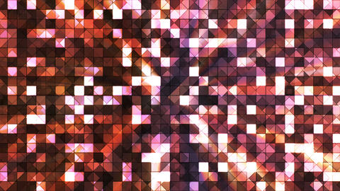 Broadcast Twinkling Hi-Tech Squares, Brown, Abstract, Loopable, 4K Animation