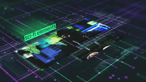 Sci-Fi Elements Slideshow After Effects Template