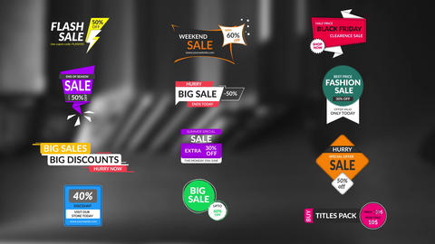 Sales Badges Motion Graphics Template
