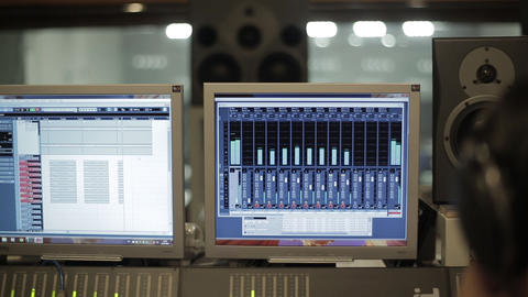 Monitor In Recording Studio Live Action